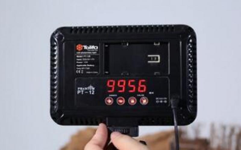 LED摄影灯PT-12使用视频